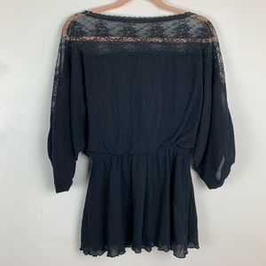 Free People | Black Lace Tunic